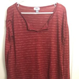 Old Navy Red Long Sleeve